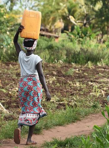 Woman Carrying Water - Do You Do Three Things