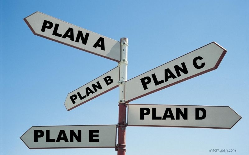 How Far Do You Plan Your Plan B? To Plan C? To Plan D?