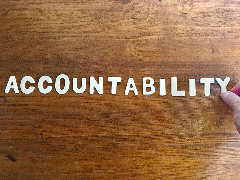 Does Anyone Keep You Accountable?