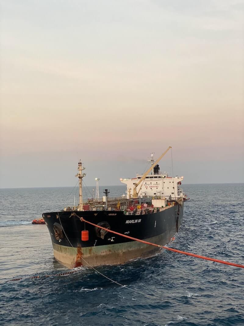 Do You Enjoy The Fruits Of Your Efforts? Supertanker unloading